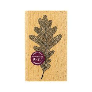 sello de madera feuille de chene florileges