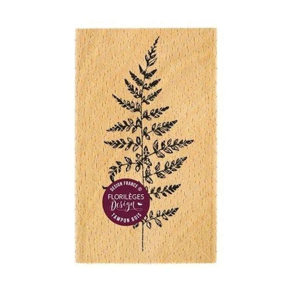 sello de madera jolie fougere florileges